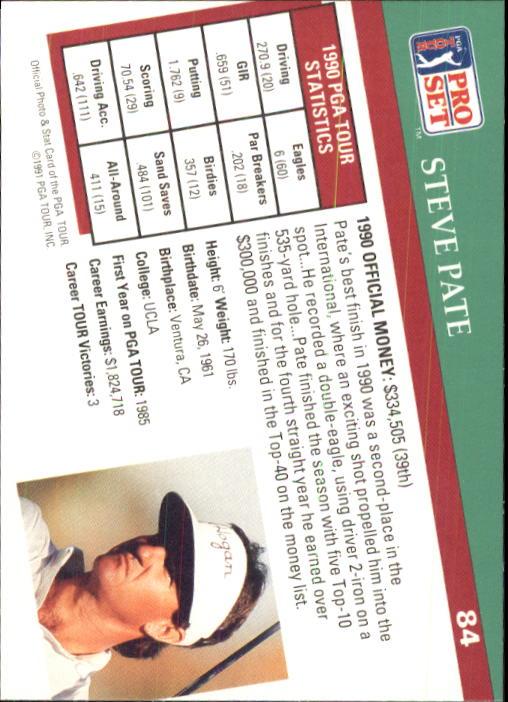 1991 Pro Set #84 Steve Pate RC back image