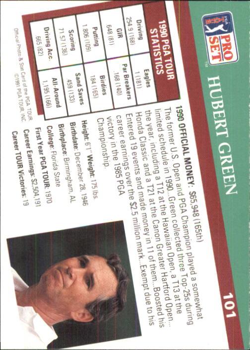 1991 Pro Set #101 Hubert Green back image