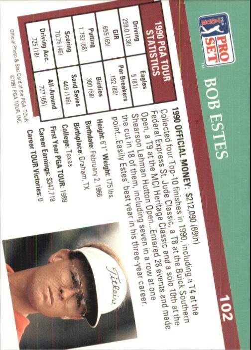 1991 Pro Set #102 Bob Estes back image