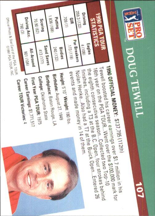 1991 Pro Set #107 Doug Tewell back image