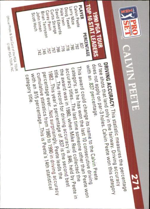 1991 Pro Set #271 Calvin Peete SL back image