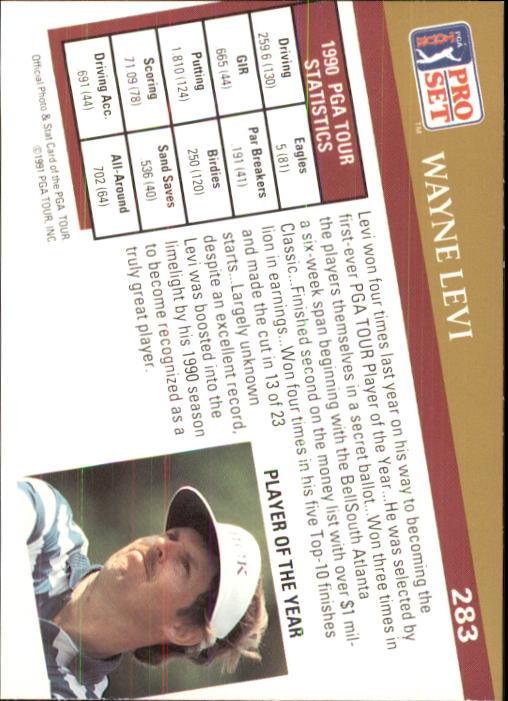1991 Pro Set #283 Wayne Levi POY back image
