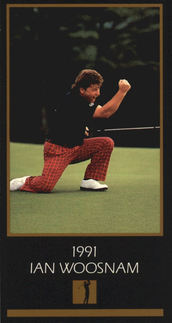 1997-98 Grand Slam Ventures Masters Collection #1991 Ian Woosnam