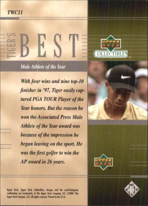 2001 Upper Deck Tiger Woods Collection #TWC11 Tiger Woods Male Athlete back image