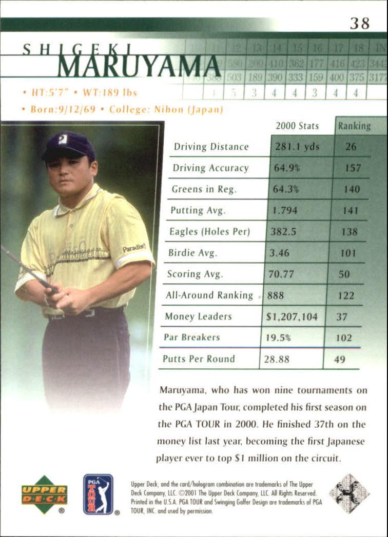 2001 Upper Deck #38 Shigeki Maruyama RC back image