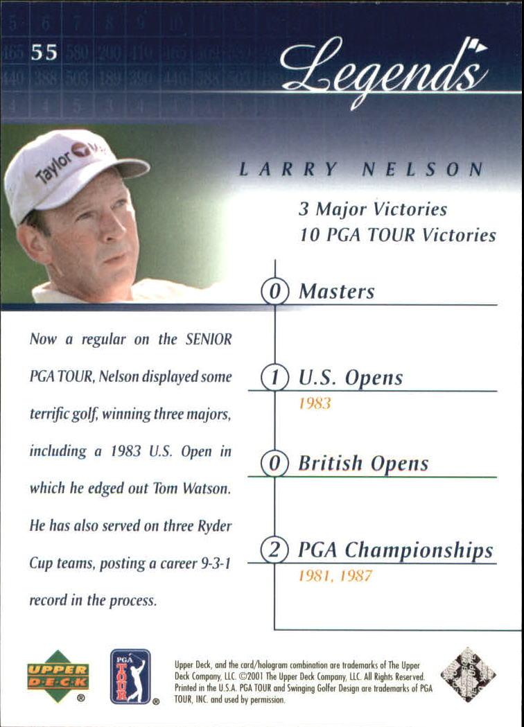 2001 Upper Deck #55 Larry Nelson back image