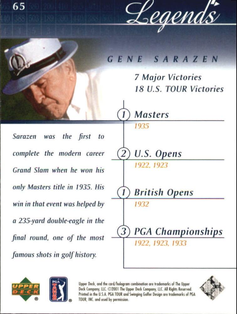 2001 Upper Deck #65 Gene Sarazen back image