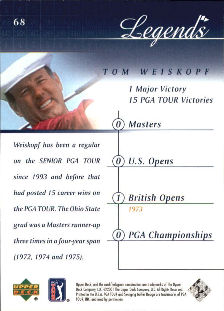 2001 Upper Deck #68 Tom Weiskopf back image