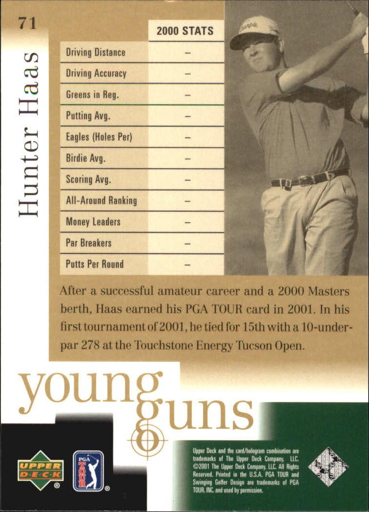 2001 Upper Deck #71 Hunter Haas YG RC back image