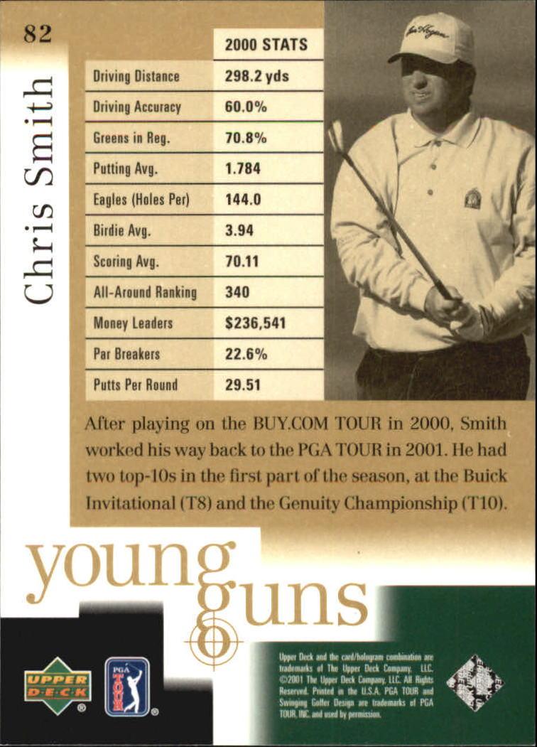 2001 Upper Deck #82 Chris Smith YG RC back image