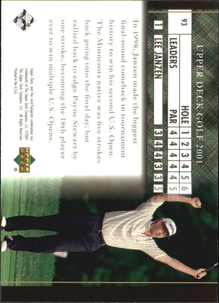 2001 Upper Deck #93 Lee Janzen LB back image