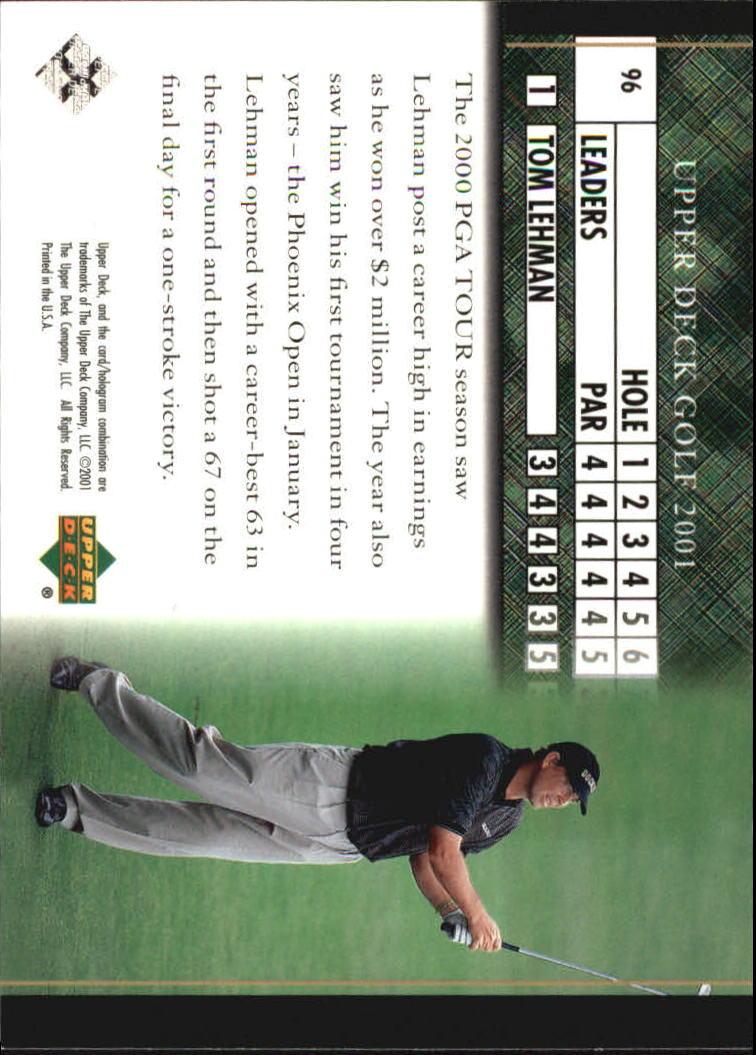2001 Upper Deck #96 Tom Lehman LB back image