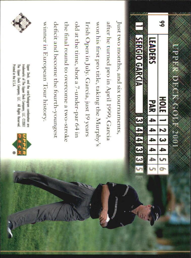2001 Upper Deck #99 Sergio Garcia LB back image