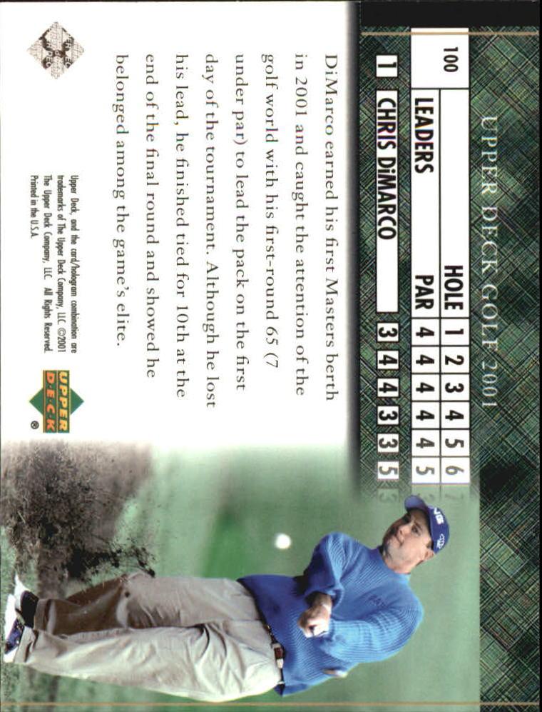 2001 Upper Deck #100 Chris DiMarco LB back image