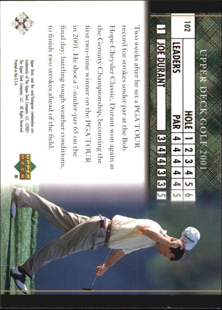 2001 Upper Deck #102 Joe Durant LB back image
