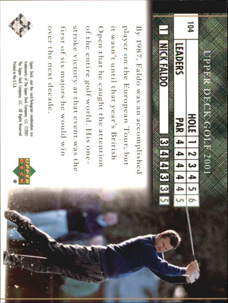 2001 Upper Deck #104 Nick Faldo LB back image