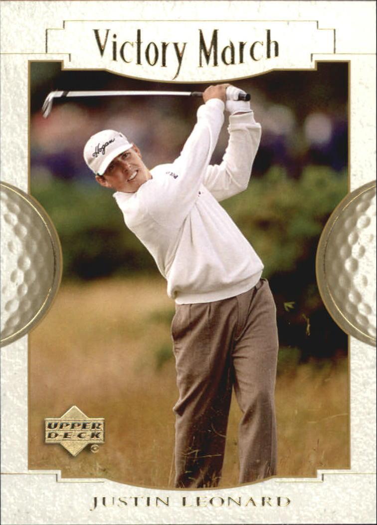 2001 Upper Deck #164 Justin Leonard VM
