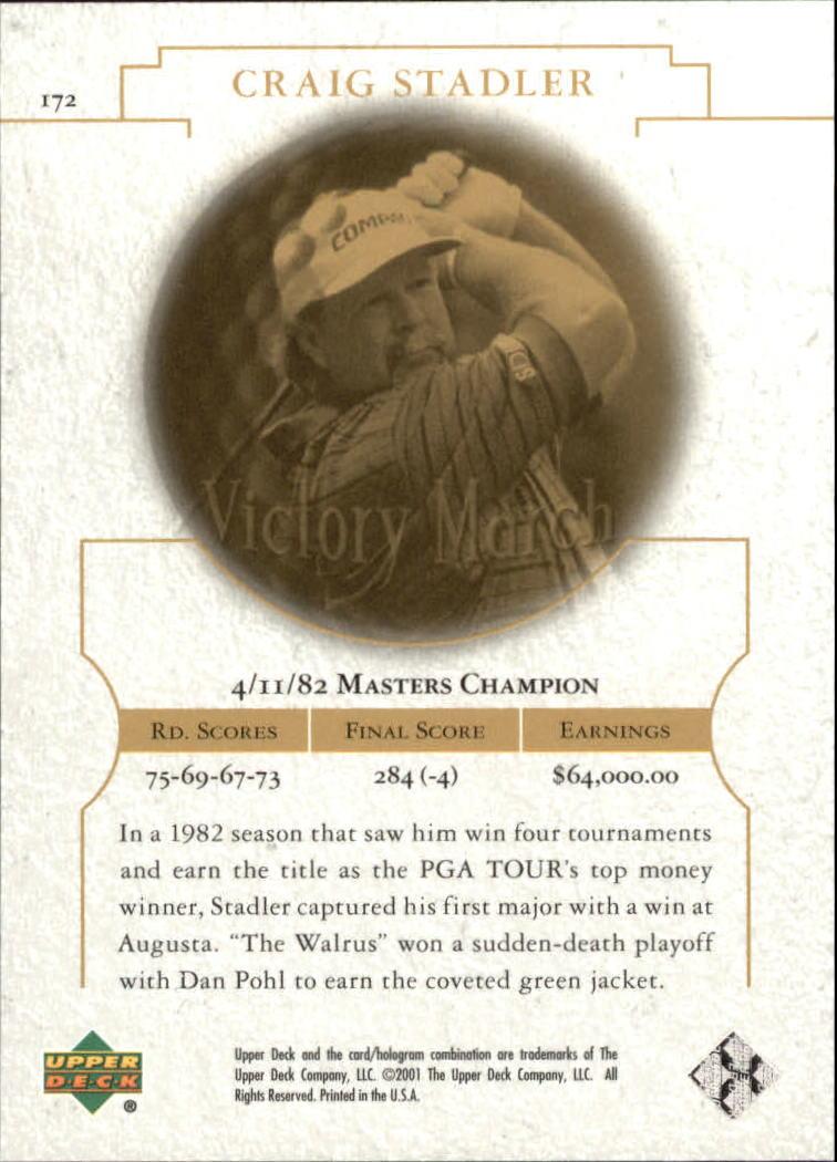 2001 Upper Deck #172 Craig Stadler VM back image