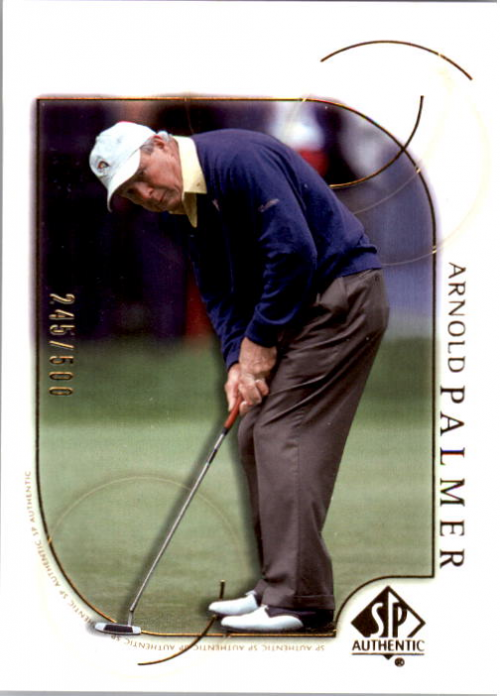 2001 SP Authentic Gold #5 Arnold Palmer
