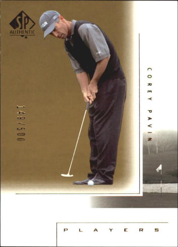 2001 SP Authentic Gold #110 Corey Pavin MP