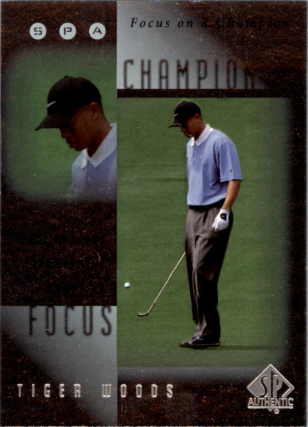 2001 SP Authentic Focus on a Champion #FC2 Tiger Woods