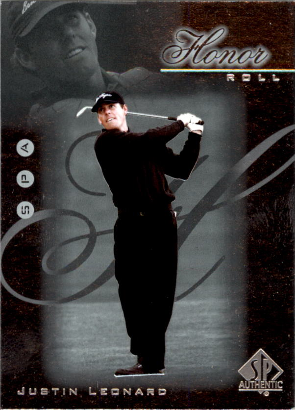 2001 SP Authentic Honor Roll #HR5 Justin Leonard