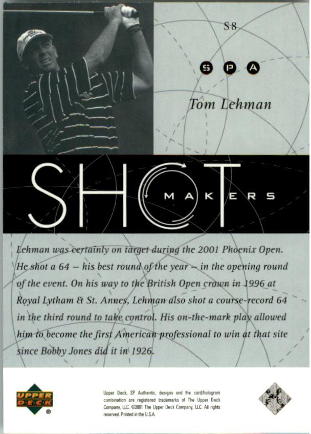 2001 SP Authentic Shotmakers #S8 Tom Lehman back image