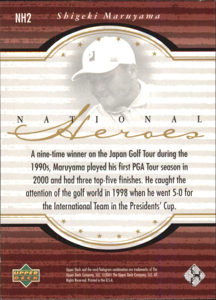 2001 Upper Deck National Heroes #NH2 Shigeki Maruyama back image