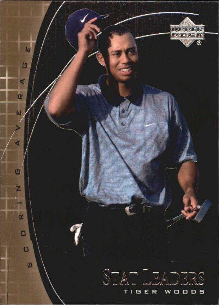 2001 Upper Deck Stat Leaders #SL11 Tiger Woods