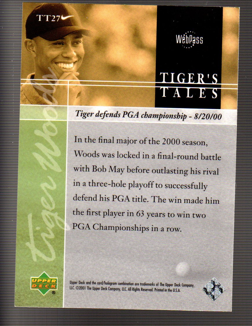 2001-Upper-Deck-Tiger-039-s-Tales-Golf-Card-Pick