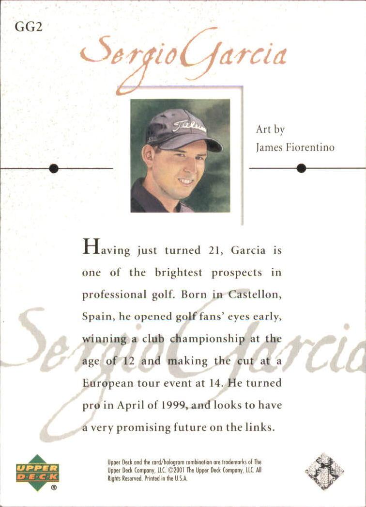 2001 Upper Deck Gallery #GG2 Sergio Garcia back image