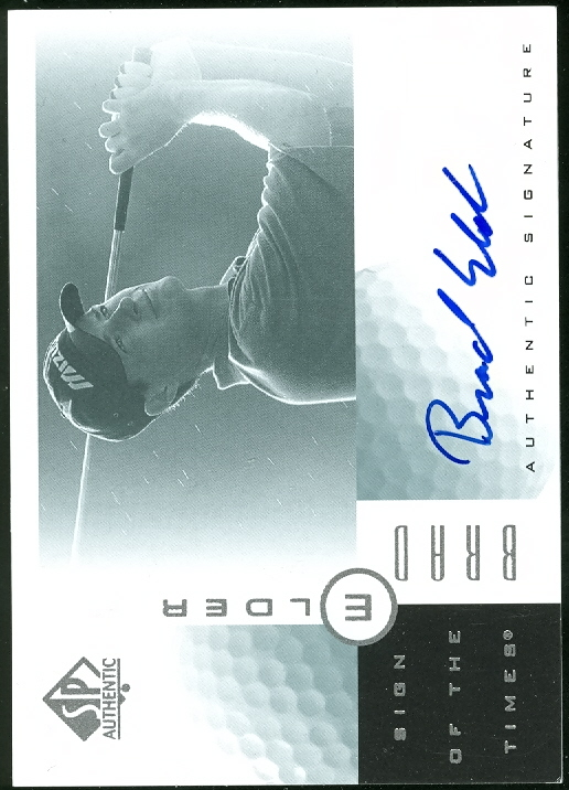 2001 SP Authentic Sign of the Times #BE Brad Elder