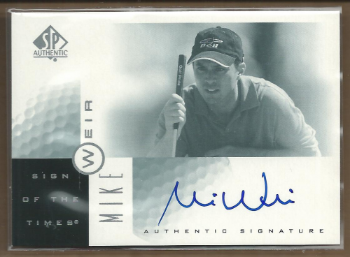 2001 SP Authentic Sign of the Times #MW Mike Weir