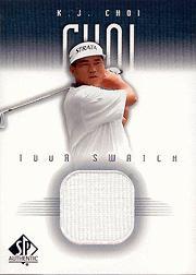 2001 SP Authentic Tour Swatch #KJTS K.J. Choi