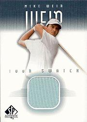 2001 SP Authentic Tour Swatch #MWTS Mike Weir