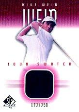 2001 SP Authentic Tour Swatch 250 #MWTS Mike Weir