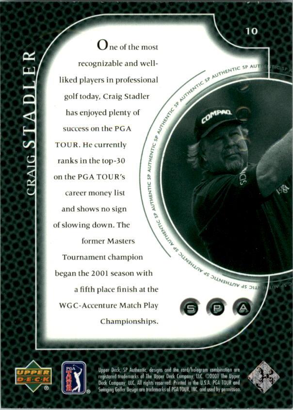 2001 SP Authentic Preview #10 Craig Stadler back image