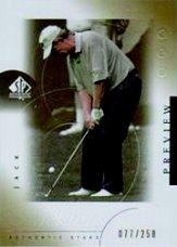 2001 SP Authentic Preview Gold #35 Jack Nicklaus STAR