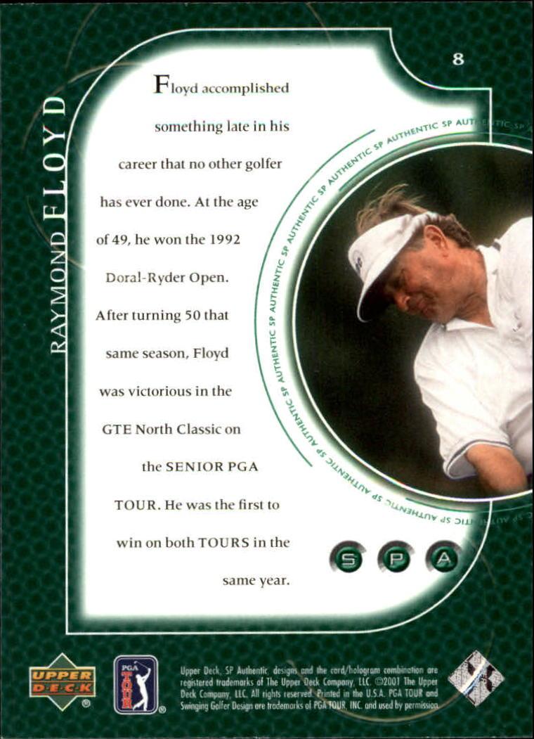 2001 SP Authentic #8 Raymond Floyd back image