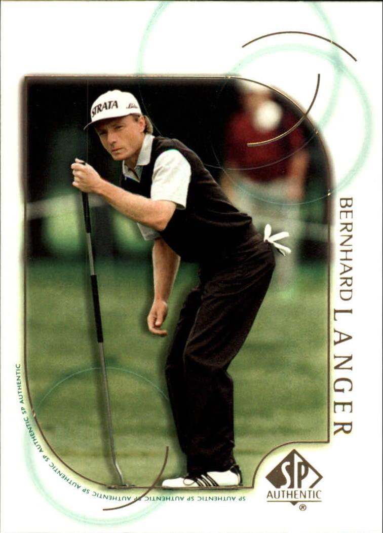 2001 SP Authentic #36 Bernhard Langer