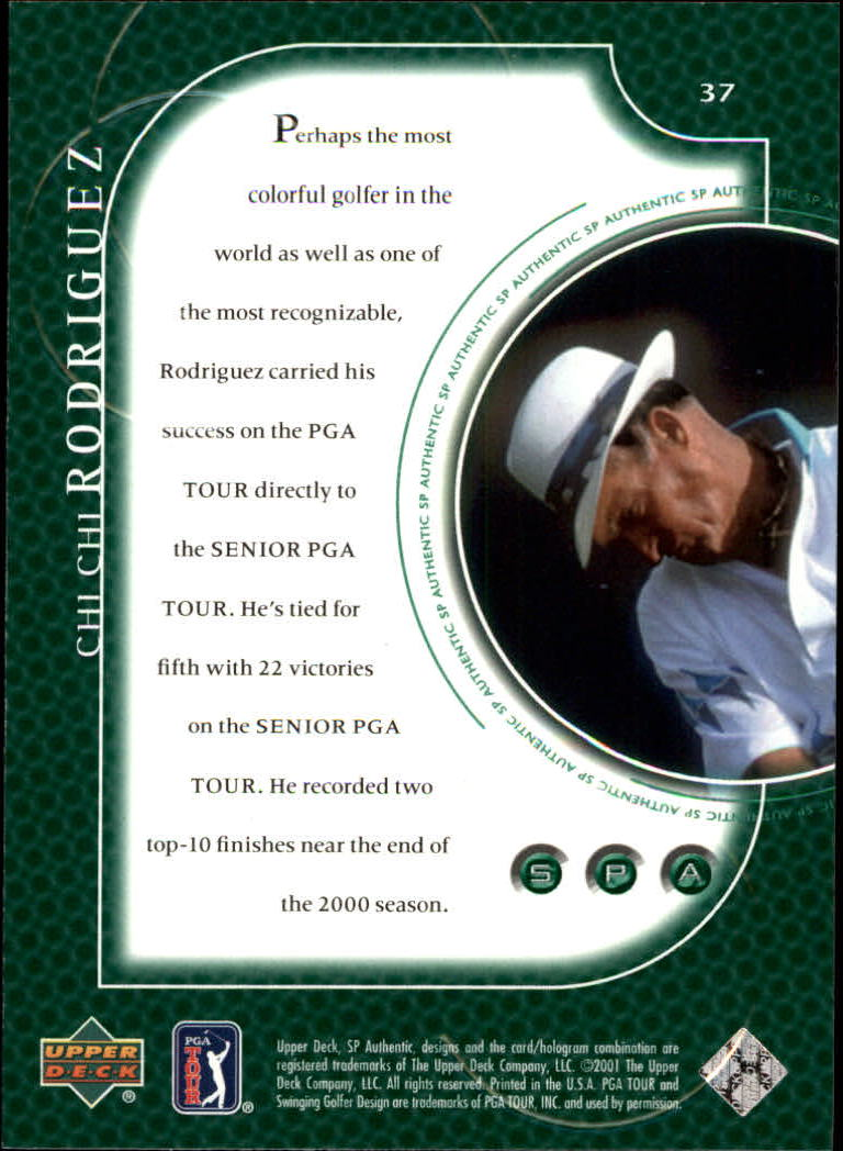2001 SP Authentic #37 Chi Chi Rodriguez back image