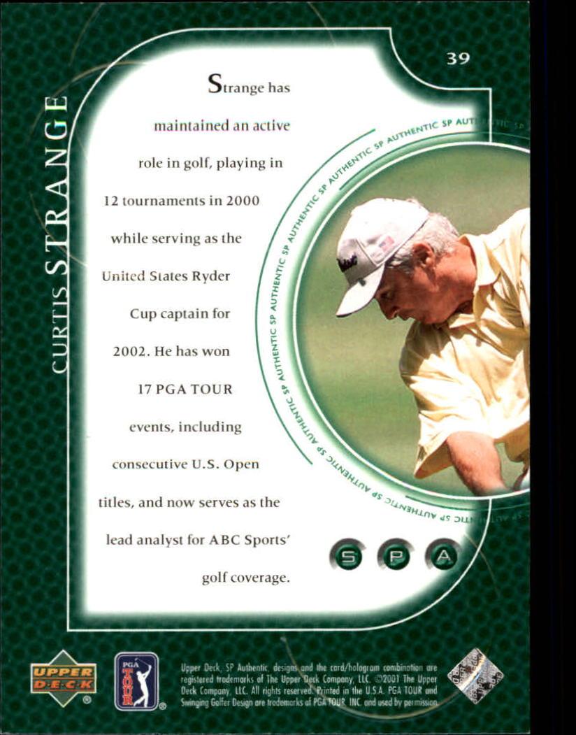 2001 SP Authentic #39 Curtis Strange back image