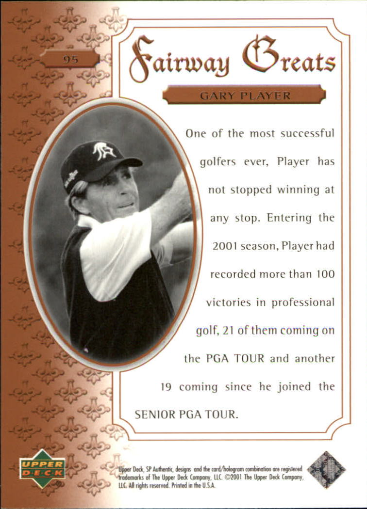 2001 SP Authentic #95 Gary Player FG back image
