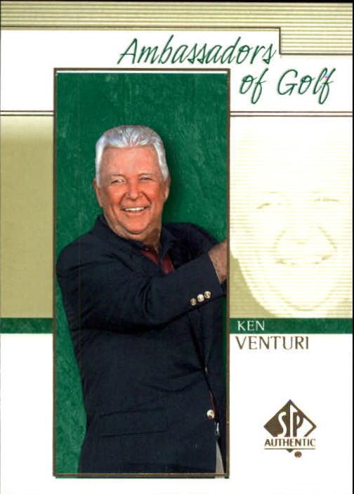 2001 SP Authentic #132 Ken Venturi AG