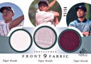 2002 SP Game Used Front 9 Fabric Threesomes #TW Tiger Woods 3X