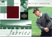 2002 Upper Deck Fairway Fabrics #RGFF Retief Goosen
