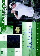 2002 Upper Deck Fairway Fabrics Signatures Green #MWAFF Mike Weir