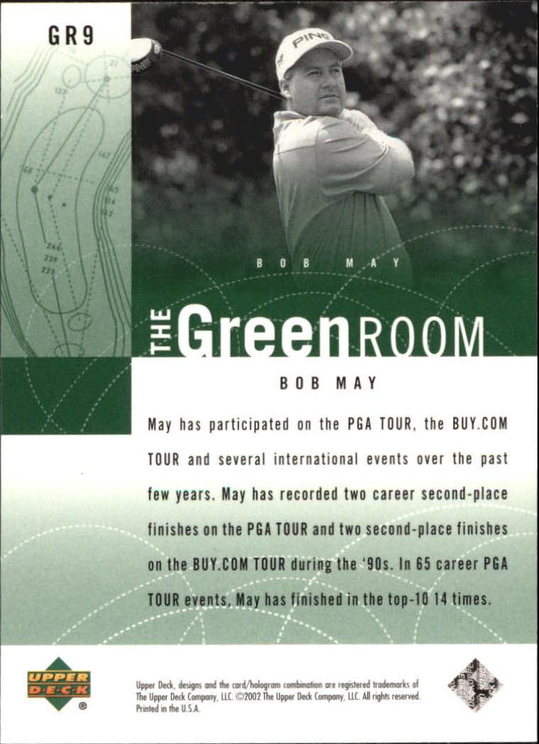 2002 Upper Deck Green Room #GR9 Bob May back image