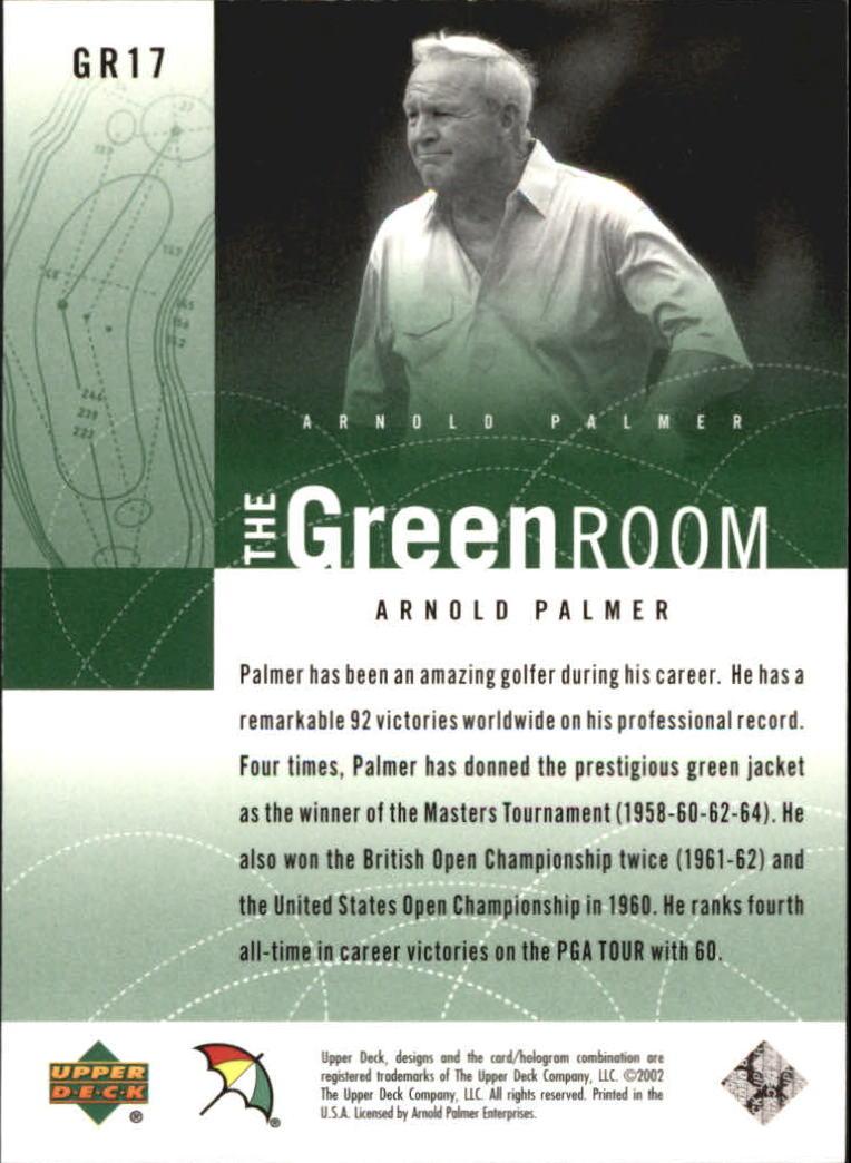 2002 Upper Deck Green Room #GR16 Matt Kuchar back image