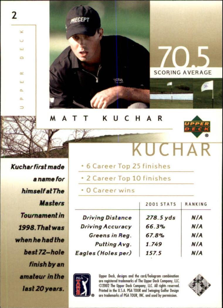 2002 Upper Deck #2 Matt Kuchar back image